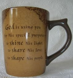 God is Using You for His Special Purpose  Cup / Mug   ** 11 Corinthians 9: 8