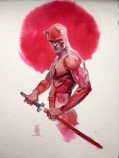 "comic-art-showcase: "" DareDevil by Alex Maleev "" Marvel Art, Comic Heroes, Character Drawing, Character Art, Daredevil Art, Punisher, Art, Marvel Comics Art, Comic Character"