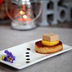 Pour un #aperitif en toute simplicité, j'ai choisi ces petites bouchées Foie gras - Mangue #aperitivomartini #AperitivobyMartini #martini #cuisinertoutsimplement