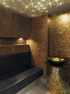 #Starry Sky commercial sauna #black #gold