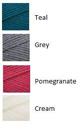 Teal, Grey, Pink and Cream