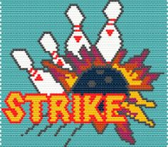 Bowling Strike Panel Word Map & Chart | Bead-Patterns