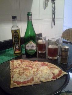 Pizza de casabe + birra artesanal
