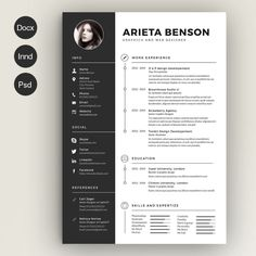 civil engineer resume template word psd and indesign format - Engineering Resume Templates Word