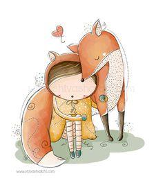 Children Illustration Nursery Little Cute by ShivaIllustrations, $10.00