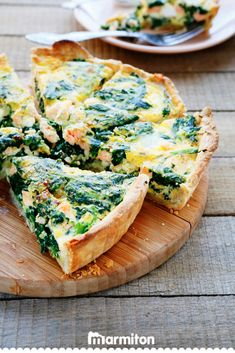 The ultimate spinach and salmon quiche Fish Recipes, Low Carb Recipes, Healthy Recipes, Salmon Recipes, Easy Meal Prep, Easy Meals, Ultimate Spinach, Tortas Low Carb, Salmon Quiche
