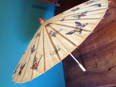 c1970's Vintage Chinese Sun Parasol with a Lovely by jesslee75, £14.99