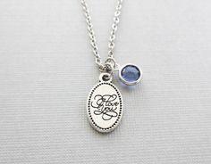 I Love You Necklace I Heart You Oval Charm by BelieveInGoodKarma