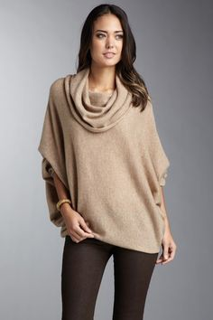 Dang, missed this on Haute Look <3 Loving this cape look this season. Whim Cashmere Seamed Batwing Sweater. $59