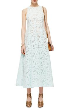 Jersey Jacquard Devoré Dress by Rochas - Moda Operandi