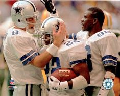 """The Triplets"" referred to the Dallas Cowboys trio of offensive stars in Troy Aikman, Emmitt Smith and Michael Irvin, which dominated the 1990s."