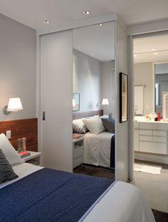Small Room Bedroom, Small Rooms, Modern Bedroom, Bedroom Decor, Home Design Living Room, Small Room Design, Bedroom Built In Wardrobe, Closet Bedroom, Flat Interior