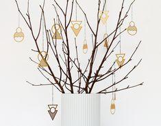 Modern Christmas ornaments by Danish designer Kristina Krogh