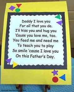Toddler Activities: Make a Card with a Special Poem for Fathers Day. Choose from our selection of Fathers Day poems