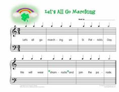 Shamrock composing_blank staff but rhythm and words provided. Can do Christmas and many other themed days.