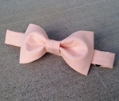 Solid Peach Bow Tie in all sizes by LittleBrotique on Etsy