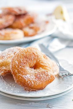 Don't be scared of the frying! This apple fritter recipe is super easy! These awesome treats are so much better than ordinary donuts! Covered in a delicious cinnamon sugar mixture - I'd still eat them for breakfast!
