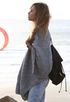 Large grey shawl
