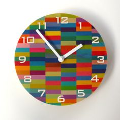 Objectify Color Block Wall Clock with by ObjectifyHomeware on Etsy