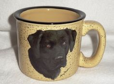 Almond Black Lab Trail Mug Rustic Mugs, Lab, Almond, Trail, Display, Tableware, Floor Space, Dinnerware, Billboard