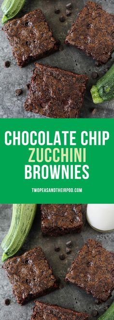 Zucchini Brownies with chocolate chips are a family favorite dessert! They are so rich and fudgy, you will never know they are made with zucchini. The best way to use up summer zucchini.