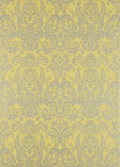 Zoffany - Constantina Damask Wallpaper Collection - Brocatello - 2015 - Inspired by a 19th century brocade and modernized with light reflective inks and subtle textures to create an extra dimension to the design.