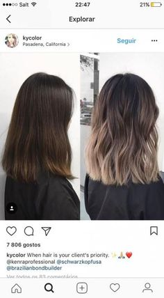 Best Hair Color Ideas For Brunettes Babylights Signs 38 Ideas Balayage Hair Color And Cut, Cool Hair Color, Hair Colour, Ombre Hair, Balayage Hair, Babylights Brunette, Ombre On Short Hair, Brunette With Blonde Balayage, Fall Balayage