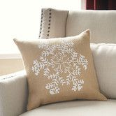 Found it at Birch Lane - Snowfall Burlap Pillow Cover, Natural