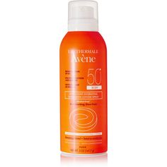 Avene SPF50+ Ultra-Light Hydrating Sunscreen Lotion Spray, 141.7ml (£24) ❤ liked on Polyvore featuring beauty products, bath & body products, sun care, beauty, fillers, fillers - orange, make, orange fillers and colorless