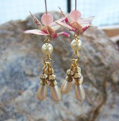 Origami Crane Earrings  Pink Print Cranes with by BlueRidgeOrigami, $27.00