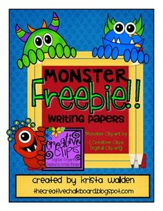 Free Monster-themed writing papers!