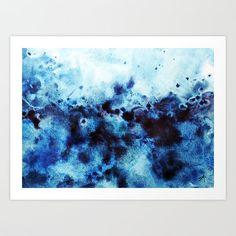 Art print abstract blue watercolor canvas art watercolor art в 2019 г. Watercolor Art Face, Watercolor Art Landscape, Watercolor Art Paintings, Watercolor Canvas, Abstract Canvas Art, Watercolors, Water Paint Art, Water Art, Large Canvas Prints