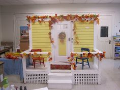 """use storage shed as the """"house"""" and build porch/reading area"""