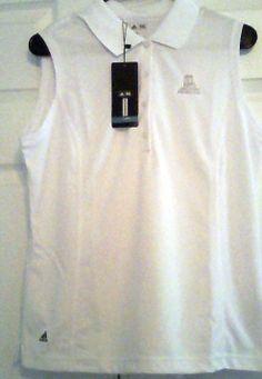 Adidas ClimaCool Women's Golf Shirt, White, Sleeveless, L, NWT #adidas #GolfShirt