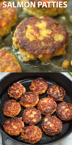 Easy Salmon Patties This Easy Salmon Patty recipe is definitely a keeper. Made with canned salmon and simple ingredients, you'll want to make it again and again. Visit Cooktoria for printable recipe and step-by-step instructions. Baked Salmon Recipes, Meat Recipes, Healthy Recipes, Recipes With Canned Salmon, Simple Fish Recipes, Simple Salmon Recipe, Canned Salmon Cakes, Leftover Salmon Recipes, Jiffy Mix Recipes