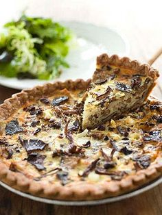 and Gruyère Quiche A robust mix of mushrooms serves as the filling for this rich quiche. Serve with a salad of seasonal greens.A robust mix of mushrooms serves as the filling for this rich quiche. Serve with a salad of seasonal greens. Quiche Recipes, Egg Recipes, Brunch Recipes, Whole Food Recipes, Breakfast Recipes, Cooking Recipes, Recipies, Quiches, Breakfast And Brunch
