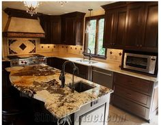 Superieur Antique Persa Gold Granite Kitchen Countertop, Antique Persa Gold Yellow  Granite Kitchen Countertops