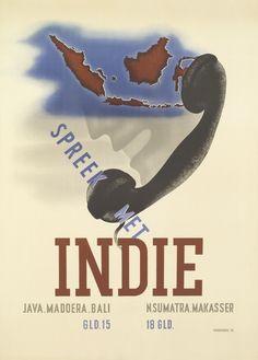 Reclame voor telefoneren met Indië, 1936
