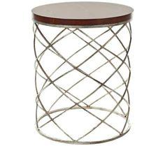 Lyman Silver Leaf Drum Table | 55DowningStreet.com