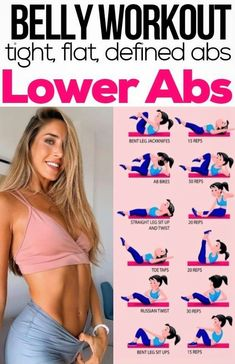 By having stronger abs, you have a better posture and you have a generally stronger core. By maintaining doing these exercises you'll certainly have a flat stomach and make your lower abs more stronger Best Ab Workout, Gym Workout Tips, Ab Workout At Home, Workout Videos, Workout Plans, At Home Workouts, Core Workout Challenge, Fat Burning Home Workout, Life Fitness