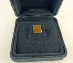 Tie Tack Tac Pin 14k Gold Vintage Anson 1960s Square Men's Jewelry Nos