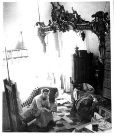 Tove Jansson in her studio (date unknown) via Drawn and Quarterly. Note Tove's long hair and the Moomin doll on the bed. Moomin Books, Tove Jansson, Heart Pictures, Book Writer, Love To Meet, Classical Music, Art Studios, Helsinki, Finland