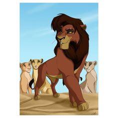 Kovu- Every girl has to admit that she was once attracted to a cartoon lion. :p<<< yep yep yep Lion King 3, Lion King Fan Art, Lion King Movie, King Simba, Disney Lion King, Disney And More, Disney Love, Disney Art, Disney And Dreamworks