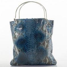 a70a7d2005 Elegante borsa in pitone diamante certificata CITES e lavorata a mano