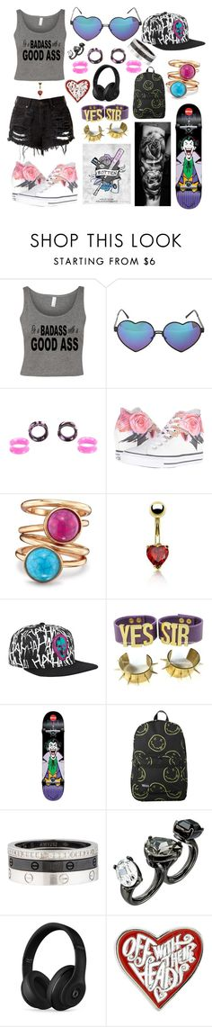 """""""Good Girl"""" by punk101love ❤ liked on Polyvore featuring Converse, Avon, Bling Jewelry, Cartier, Oscar de la Renta and Beats by Dr. Dre"""