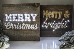 Merry & Bright, Merry Christmas, Wooden Pallet Marquee Light, Christmas Decor, Happy Holidays, Glitter Sign, Light Up Sign, Calligraphy by SimplyGypsyDesigns on Etsy