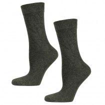 Bamboe sokken antraciet badstof zool. Lekker dik onder de voeten en de teen en hiel gaan ook langer mee! 2 paar - 9.95
