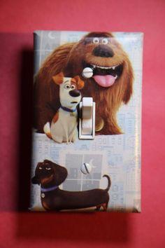Secret Life of Pets Max Duke Gidget Light Switch Cover boys room child decor Mel