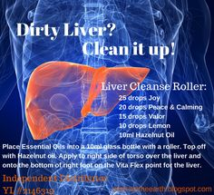 It makes perfect sense to detoxify an organ that is responsible for removing toxins from the body. Liver cleansing will help maintain a proper supply of nutrients to the body and noticeably increase your energy. For more information or to sign up with Young Living go to: oilsfromtheearth.blogspot.com