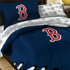 jaidans boston red sox themed bedroom.got the paint ideas from